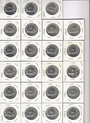 23 - 1964 P 90% SILVER KENNEDY HALF DOLLARS $10 FACE VALUE -UnCirculated?