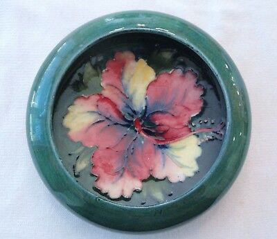 Moorcroft Pink Hibiscus Small Round Art Pottery Bowl