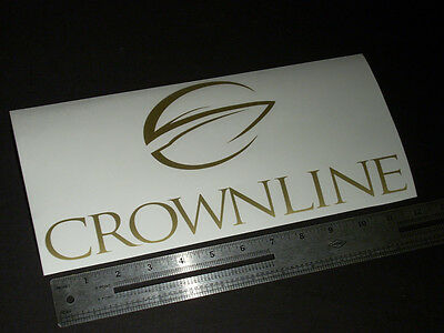 """Crownline Boats Large Gold Decal 12"""" Sticker"""