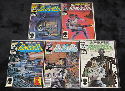 The Punisher 1 2 3 4 5 (Fn) Complete Limited Series Marvel Comics Mike Zeck Art