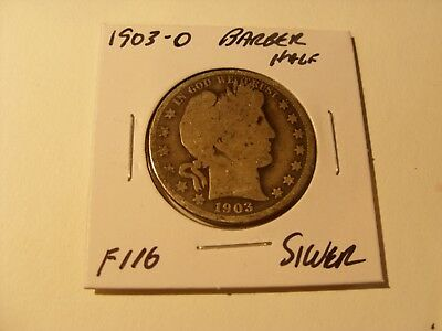 Very nice1903-O Silver Barber Half Dollar Check out the pictures (F116)