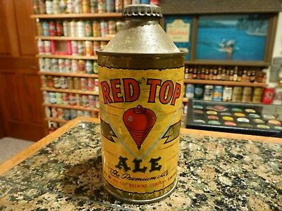 Nice Red Top Ale- Cone Top Beer Can