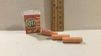 Barbie Doll 1:6 Kitchen Food Miniature Box of Ritz Crackers with Packets