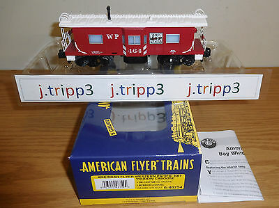 Lionel American Flyer #48754 Western Pacific Wp Bay Window Caboose Train S Gauge