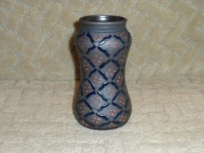 Antique VTG Art Pottery Vase Enamel Work Art Nouveau Arts & Crafts Unglazed Mark