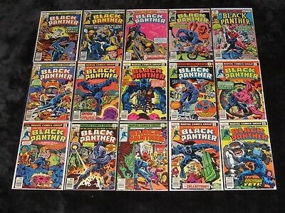 1977 Black Panther 1 2 3 4 5 6 7 8 9 10 11 12 13 14 15 Complete Kirby Series Lot