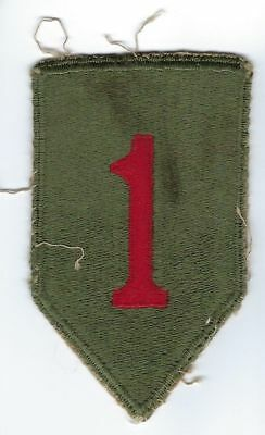 1st Infantry Division Patch WW2 Original US Army No Glow Uniform Removed