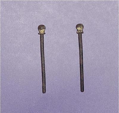 Antique Vintage Furniture Rustic Hardware Door Parts Old Ball Hinge Pins Small