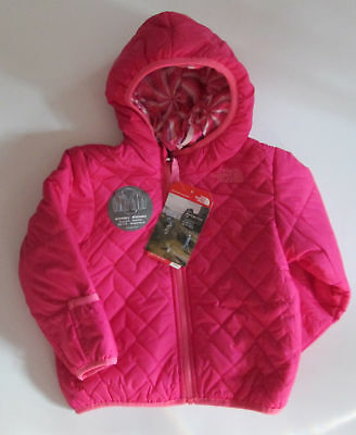 8e9c7e51f NWT THE NORTH FACE Infant Girls Pink Reversible Perrito Jacket Size 3 - 6  Months