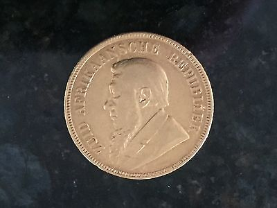 One Pond Gold South Africa 1898, Condition you decide.