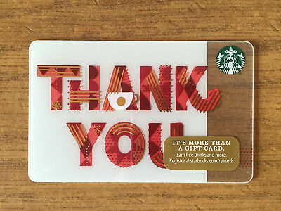New Starbucks 2017 Christmas Holiday Thank You Gift Card With A Diamond On Back
