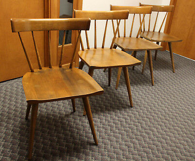 Nice Set 4 Paul Mccobb Planner Group Dining Chairs Winchendon Mid Century Modern