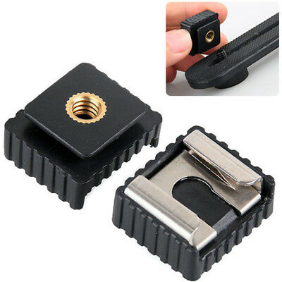 """Flash Cold Hot Shoe Bracket Mount Adapter 1/4"""" Screw for Tripod Professional"""