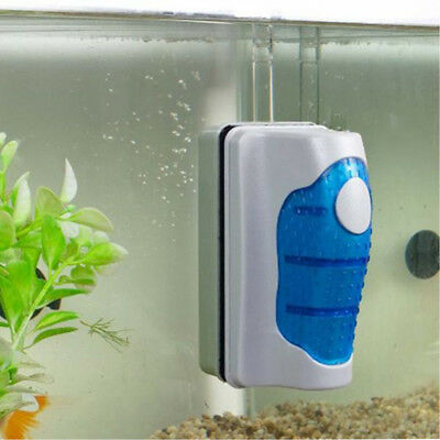 Aquarium Fish Tank Magnetic Glass Cleaner Algae Scraper Brush Floating Curve