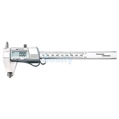 150mm/ 6inch Digital Electronic Gauge Steel Vernier Caliper Micrometer #6