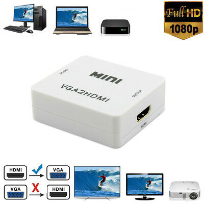 Full HD 1080P HDMI To VGA Audio Video Cable Converter Adapter for Laptop TV Box