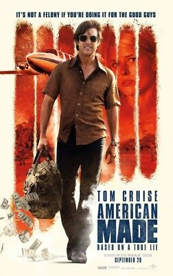 AMERICAN MADE great original 27x40 D/S movie poster (s01)
