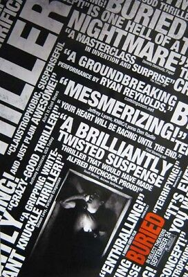 BURIED great original 27x40 D/S movie poster (s01)
