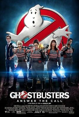 GHOSTBUSTERS great original 27x40 D/S movie poster (s01)