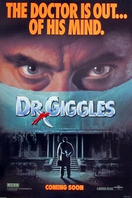 DR. GIGGLES original 27x40 rolled movie movie poster 1990 LAST ONE (s01-25)