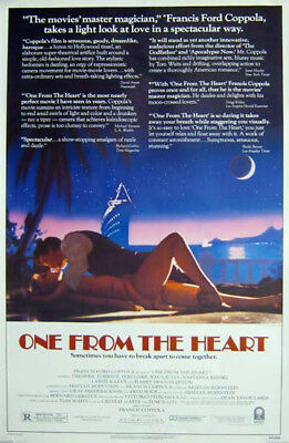 ONE FROM THE HEART great original 27x41 movie poster 1982 LAST ONE (s02)