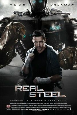 REAL STEEL great original 27x40 D/S movie poster (s04)