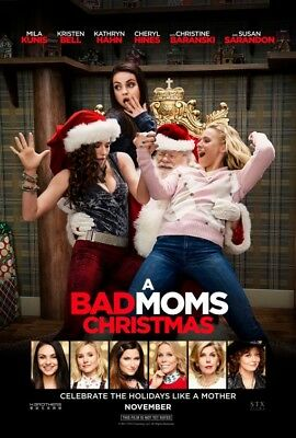 A BAD MOMS CHRISTMAS great original 27x40 D/S movie poster (s01)