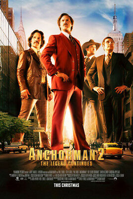 ANCHORMAN 2 great original D/S 27x40 movie poster (s01)