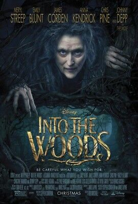 INTO THE WOODS great original D/S 27x40 movie poster (s01)