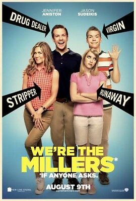WE'RE THE MILLERS great original D/S 27x40 movie poster (s01)