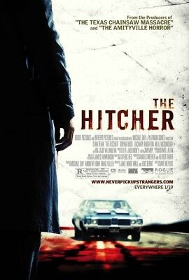 THE HITCHER great original 27x40 D/S movie poster (s01)