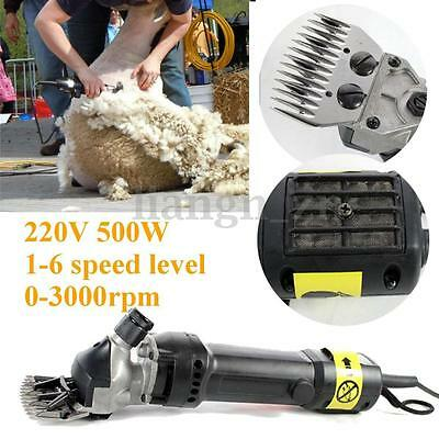 4Pcs 500W 220v Electric Sheep Goat Shearing Clipper Alpaca Wool Farm Shear Tool
