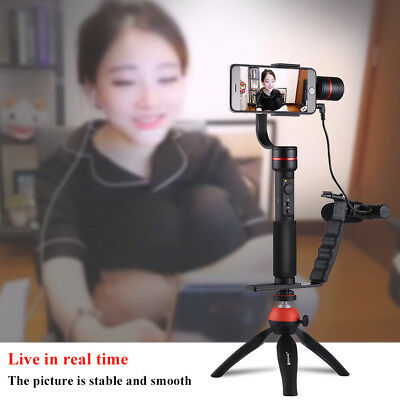 3-Axis Handheld Gimbal Holder Stabilizer Grip With Microphone for Phone Camera