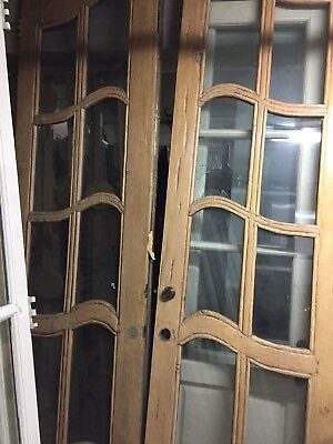 "Storybook Style French Doors 113""x35"""