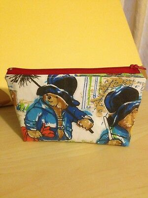 Paddington Bear Vintage Fabric Handmade Makeup Bag