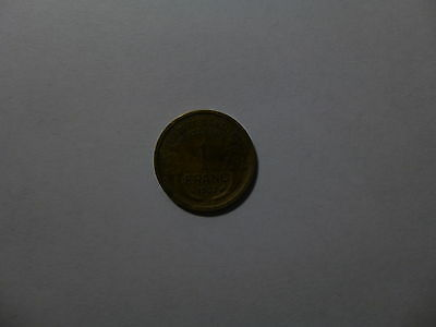 Old France Coin - 1937 1 Franc - Circulated