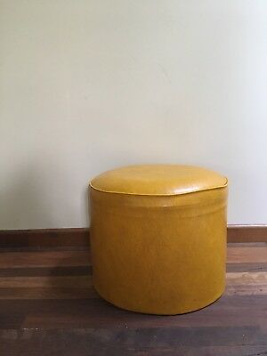 Vintage Mustard Yellow Stool