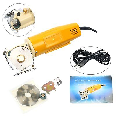 70MM Electric Fabric Cutter Rotary Blade Scissors Cloth Cutting Machine 110V