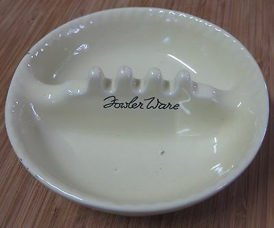 Vintage Fowler Ware Pottery Advertising Ashtray