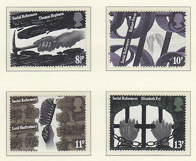 1976 sg 1001-04 Social Reformers (4 values) mint MNH