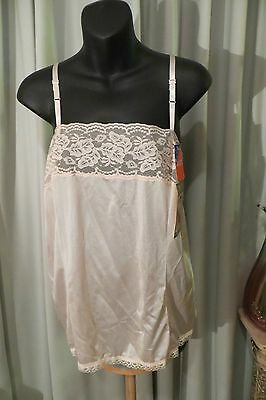 VINTAGE ~ DEMURE ~  Nude CAMISOLE * Size 24 * NWT *