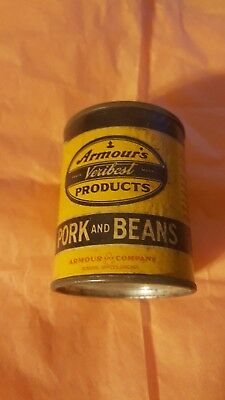 Vintage Advertising Tin Bank ARMOURS VERIBEST Pork and Beans