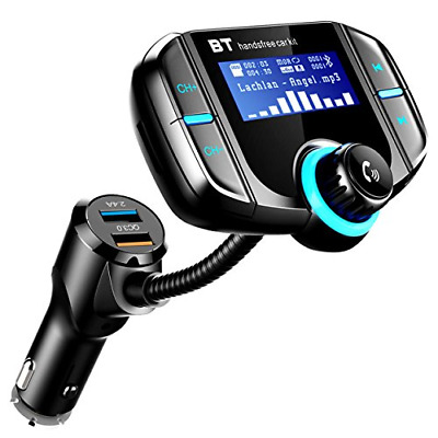 FM Bluetooth Trasmettitore, ICOUVA Car FM Transmitter Car Wireless Adapter Car H