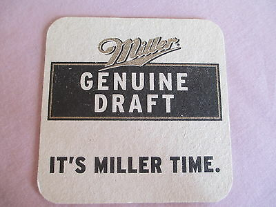 Vtg Miller Beer Coaster Lot Of 250+, Double Sided, It's Miller Time, Man Cave