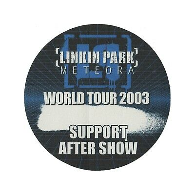 Linkin Park authentic Support Aftershow 2003 tour Backstage Pass