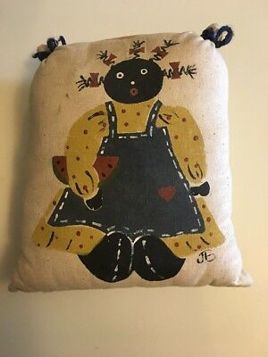 Vintage Black Americana Pillow