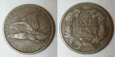 Rare Very Fine 1857 Flying Eagle Cent or Penny