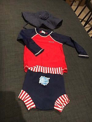 Baby Swimwear 6 Months (polarno hat and UV t-shirt and splash-about shorts)
