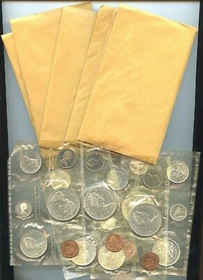 Canada ~ 1965 ~ (10) 1965 Mint Set Lot ~ Individually Wrapped ~ Bu