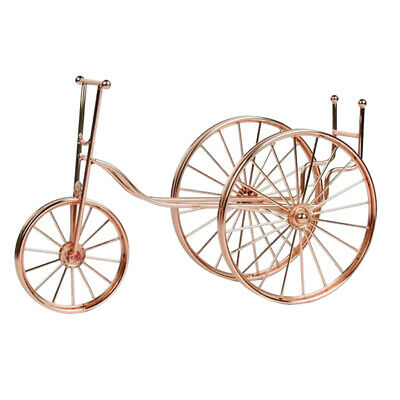 Bike Pattern Metal Single Bottle Tabletop Wine Holder Display Rack Gift